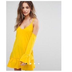 ASOS Boohoo Frill Hem Mini Dress